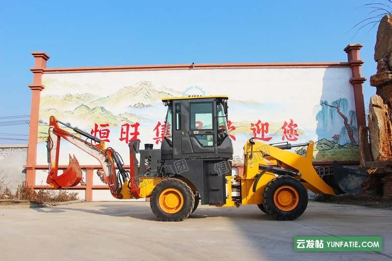 多型号小型两头挖掘机定制液压导向_带挖斗的装载机_两头忙厂家